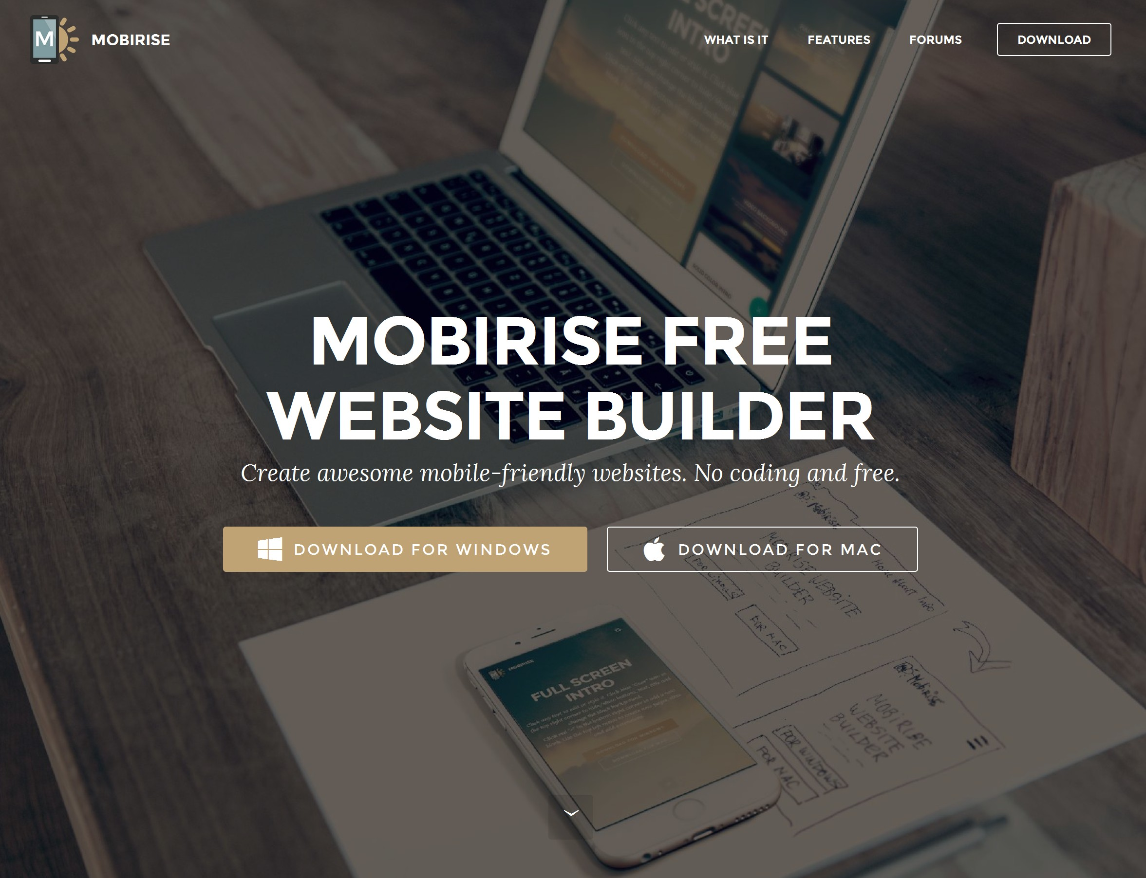 Simple Responsive Website Maker