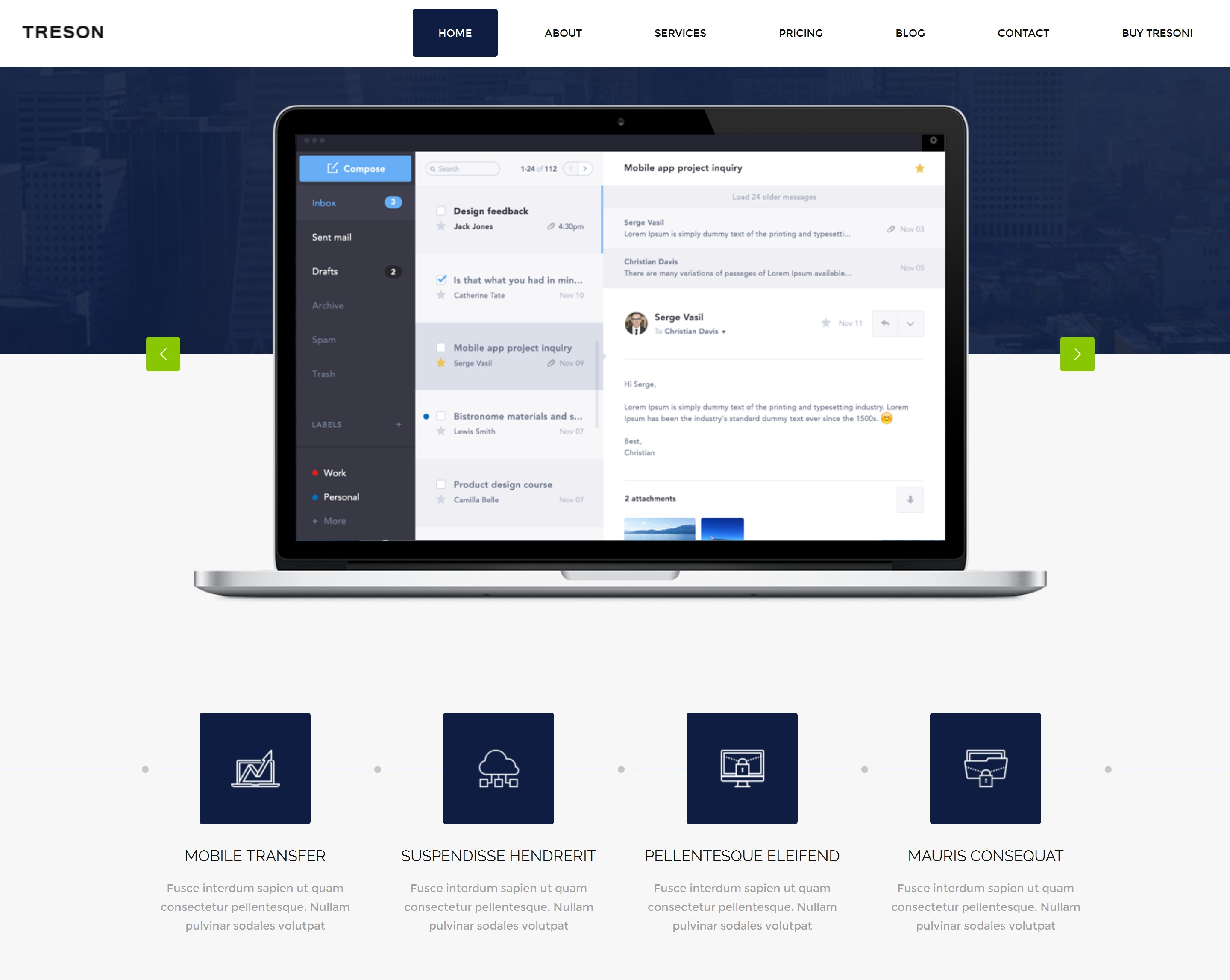 HTML5 Bootstrap App Theme