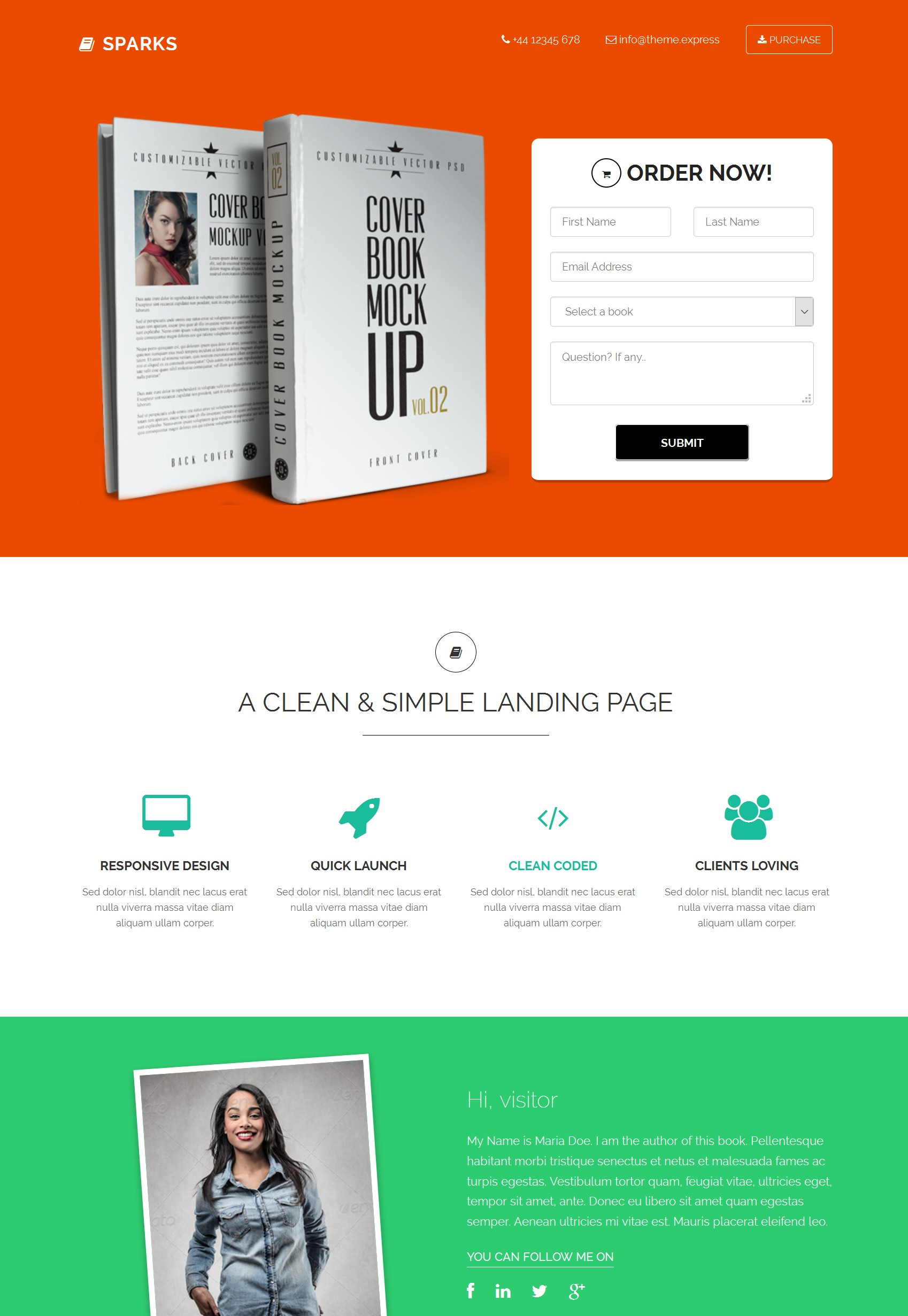 Responsive Bootstrap Landing Page Theme