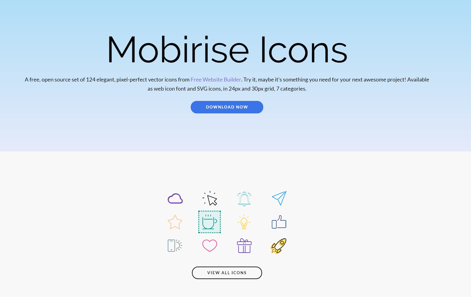 mobirise icons collection