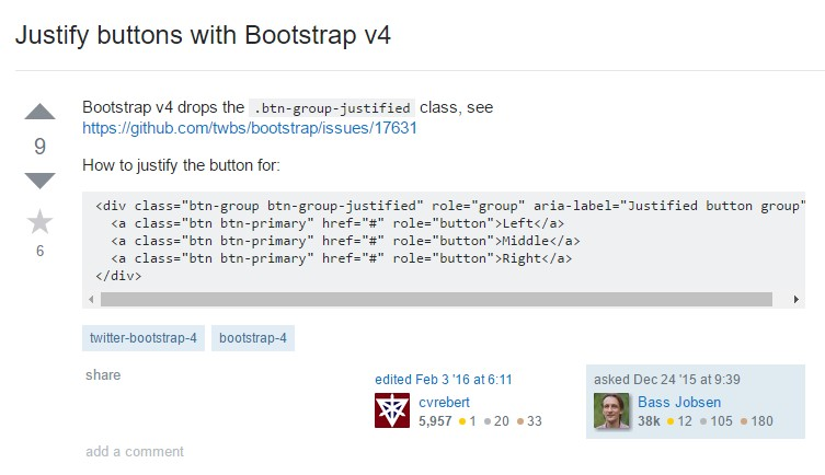 Maintain buttons  utilizing Bootstrap v4