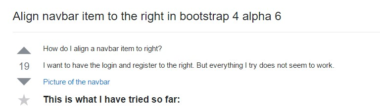 Align navbar item to the right  within Bootstrap 4 alpha 6