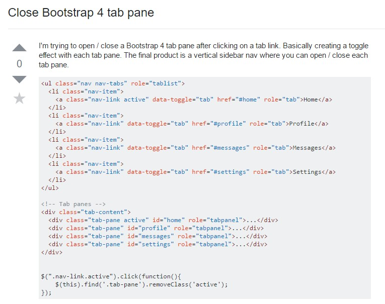How you can  shut off Bootstrap 4 tab pane