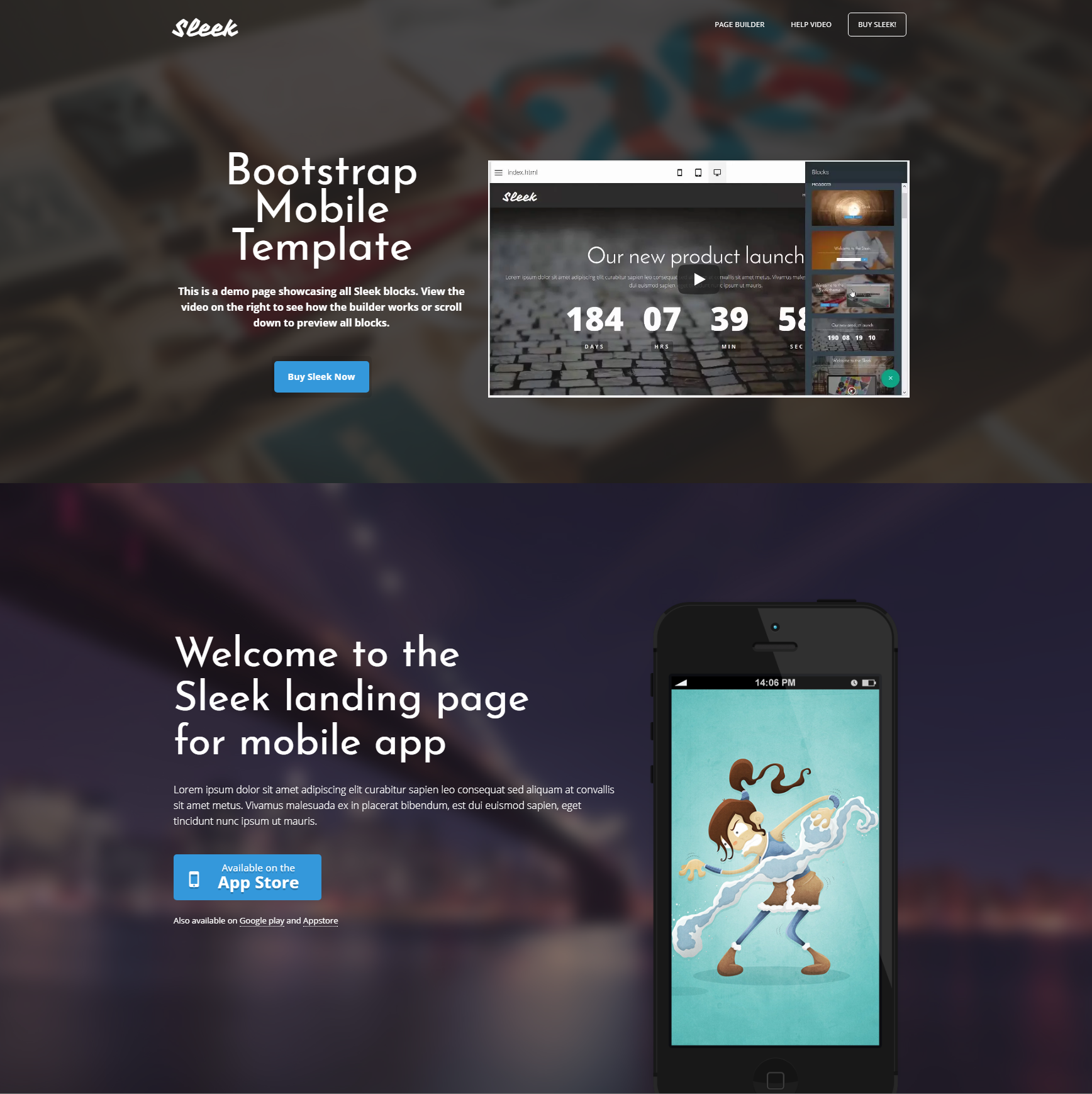 HTML Bootstrap Mobile Themes