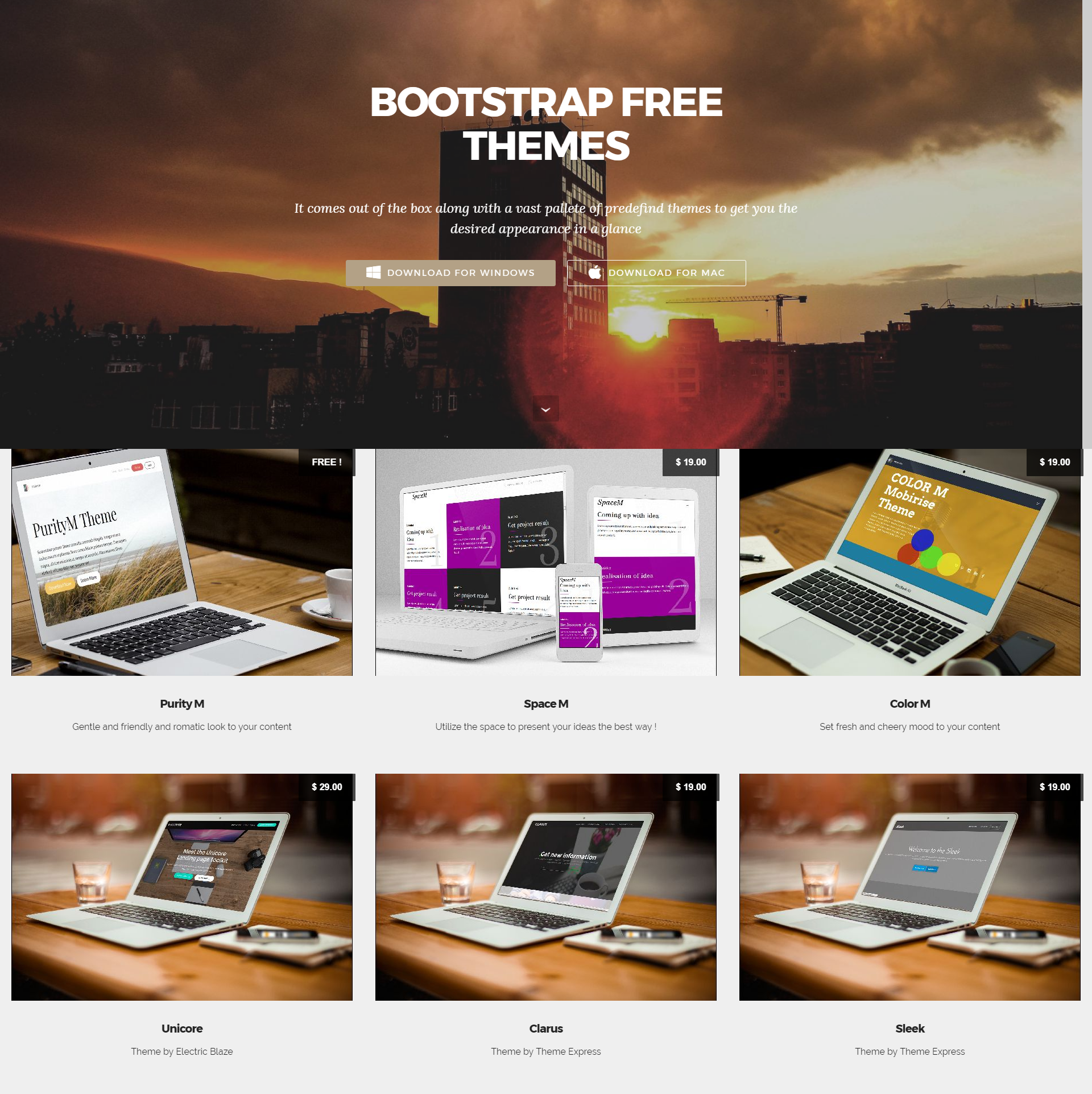 Responsive Bootstrap Mobile-friendly Themes