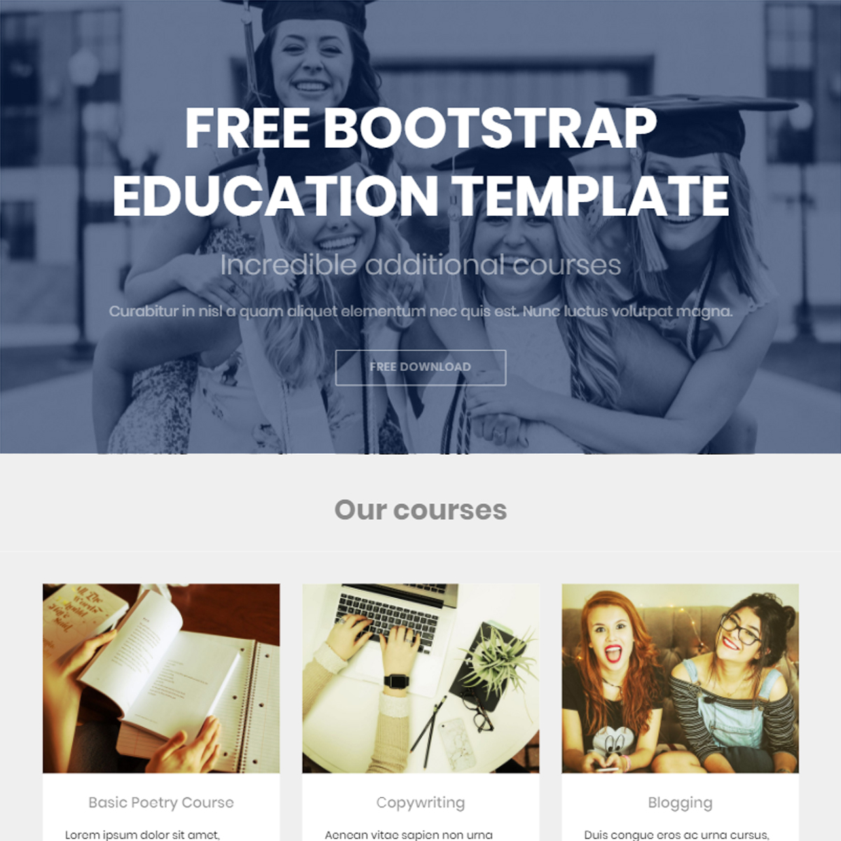 HTML5 Bootstrap Education Themes