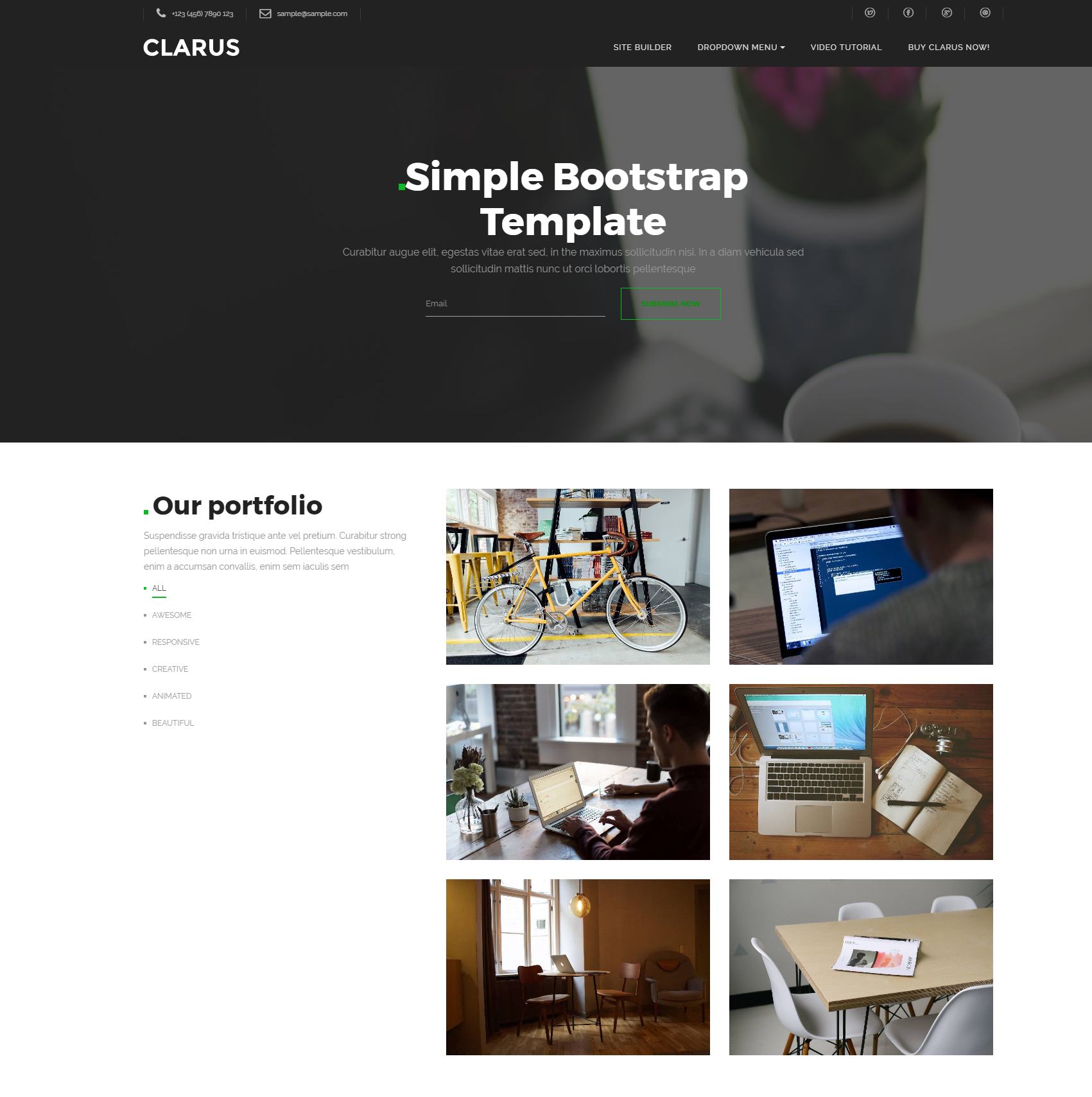 HTML5 Bootstrap Simple Templates