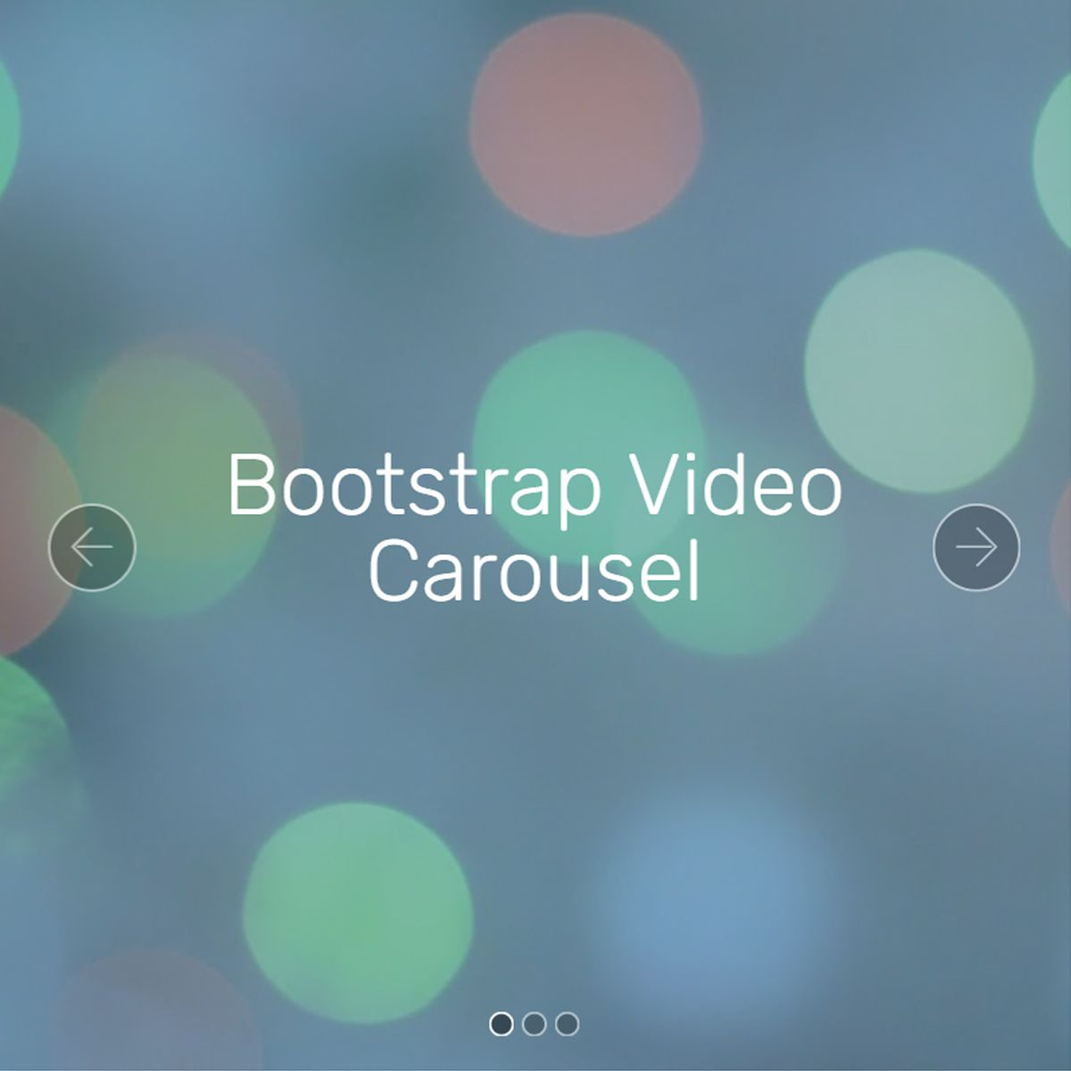 CSS3 Bootstrap Picture Carousel
