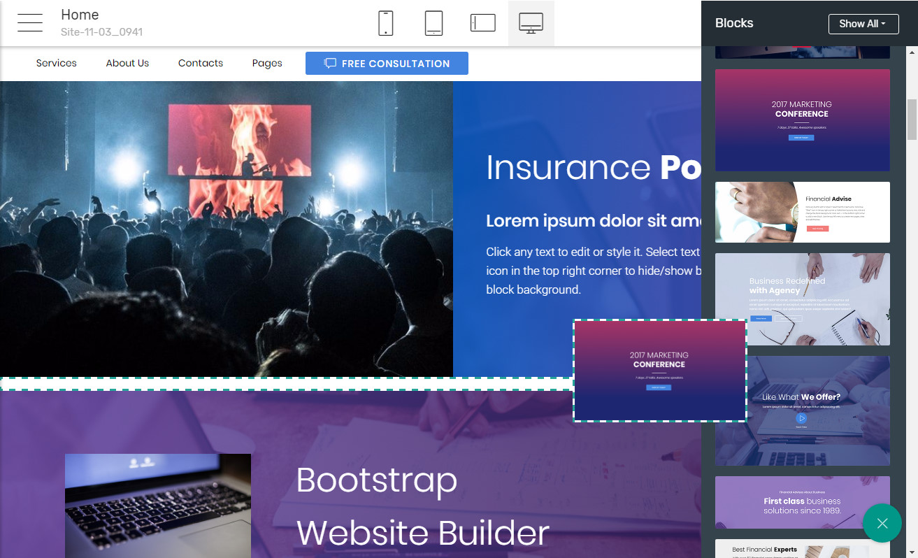 Bootstrap Page Builder