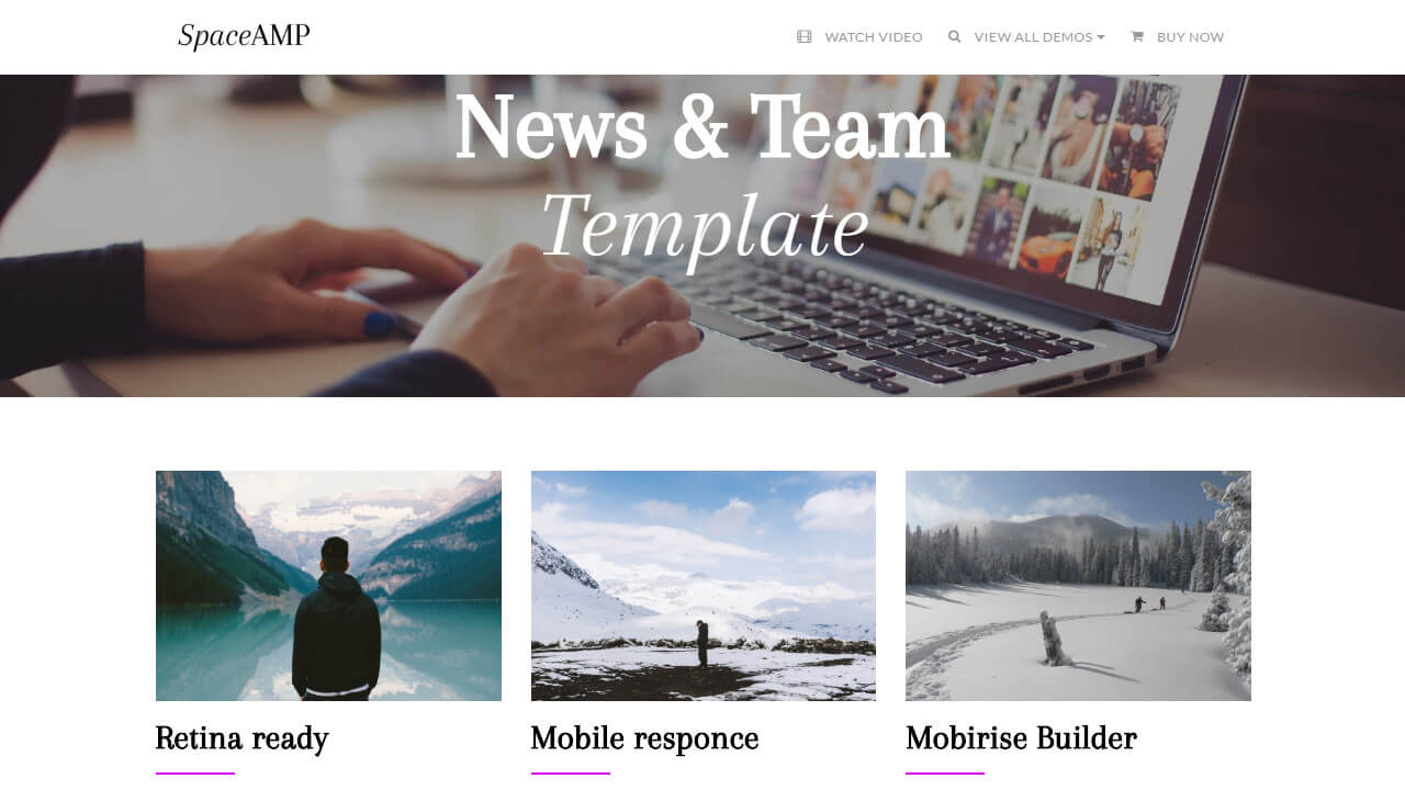 AMP News & Team Page Template