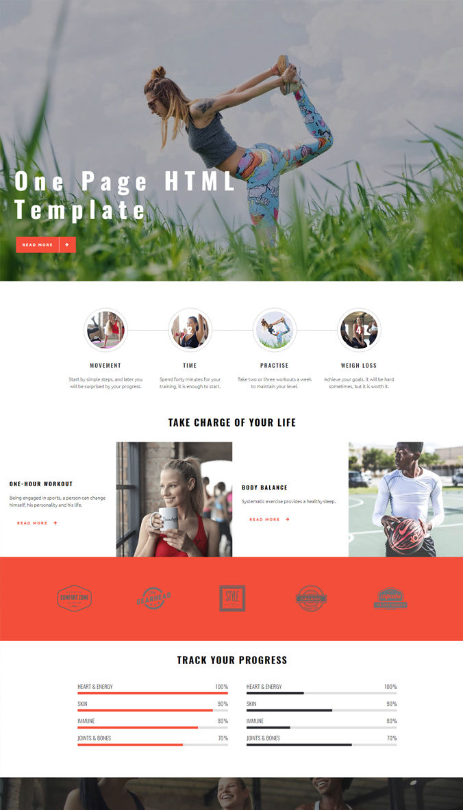 One Page Website Templates