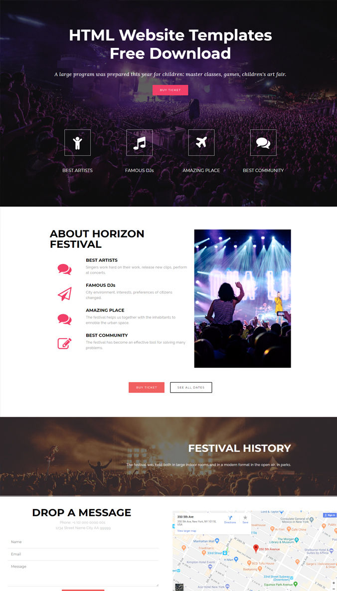 Sample Website Template