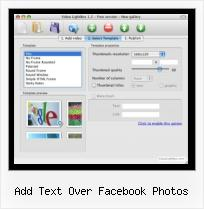 Insert Flash Video HTML add text over facebook photos