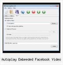 Integrate Vimeo Into Website autoplay embeeded facebook video