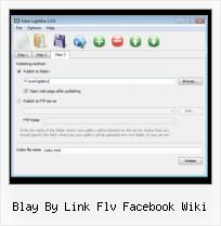 How to Put A Video in A Website blay by link flv facebook wiki