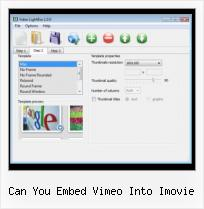 Video HTML Hosting can you embed vimeo into imovie