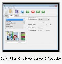 SWFobject Gwt conditional video vimeo e youtube