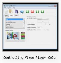 Embedding Flash Video in HTML controlling vimeo player color