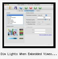 SWFobject No Flash Installed dim lights when embedded vimeo plays