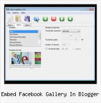 Add Video to Websites embed facebook gallery in blogger