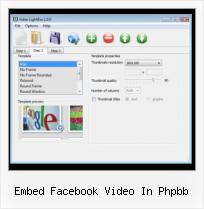 Streaming Video HTML Code embed facebook video in phpbb