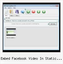 jQuery Lightbox With Video embed facebook video in static fbml