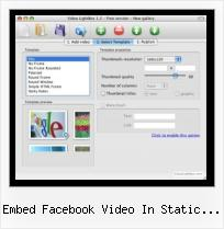 Flash Video Web Site embed facebook video in static fbml