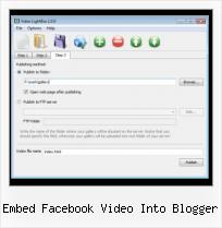 Lightbox Video Dreamweaver embed facebook video into blogger
