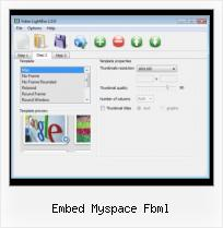 jQuery SWFobject embed myspace fbml