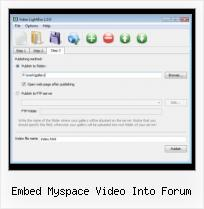 HTML Video Video embed myspace video into forum