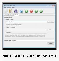 Embed SWF File embed myspace video on fanforum