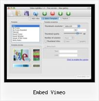Play Video HTML Script embed vimeo