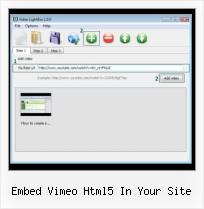 SWFobject Doc embed vimeo html5 in your site