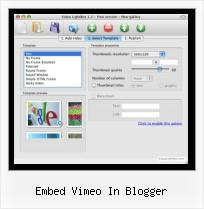 SWFobject Quality embed vimeo in blogger