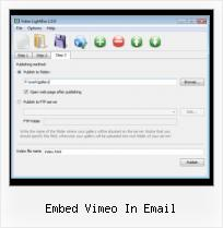 How to Put Video on Web Page embed vimeo in email