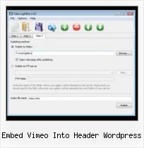 Embed Myspace Video Gmail embed vimeo into header wordpress