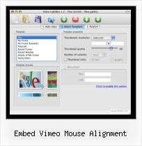 FLV Web Converter embed vimeo mouse alignment