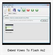 SWF Player in HTML embed vimeo to flash as2