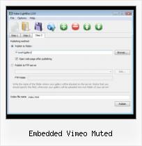 HTML Video Viewer embedded vimeo muted