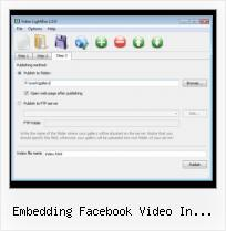 Alternate Thumbnails Facebook Picture embedding facebook video in website