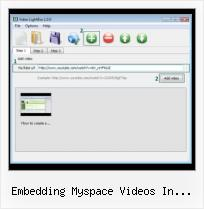 Most Recent Myspace Video Embed embedding myspace videos in wordpress