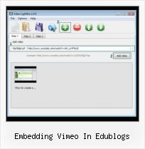 jQuery Lightbox With Video Player embedding vimeo in edublogs