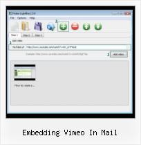 HTML Video Loop embedding vimeo in mail