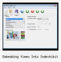 HTML Video Image embedding vimeo into indexhibit