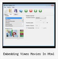 jQuery Video Playlist embedding vimeo movies in html