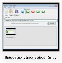 Embed Flash SWF embedding vimeo videos in facebook pages