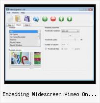Blogger Vimeo Layout embedding widescreen vimeo on wordpress