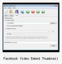 Embed SWF Parameters facebook video embed thumbnail