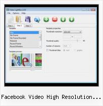 Flash Lightbox facebook video high resolution embed code