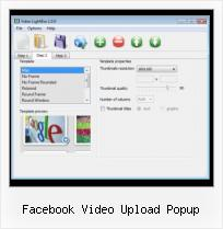jQuery SWFobject Wmode facebook video upload popup